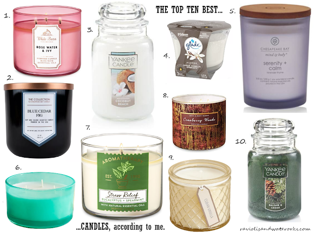 best candles for a gift; best candles; candle contest; favorite candles; best candles for allergies