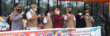 Kunjungan Kerja Plt Gubernur Jambi Di Post Penyekatan