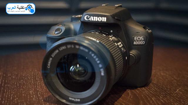 سعر كاميرا كانون 4000d وشريحتها المختلفة