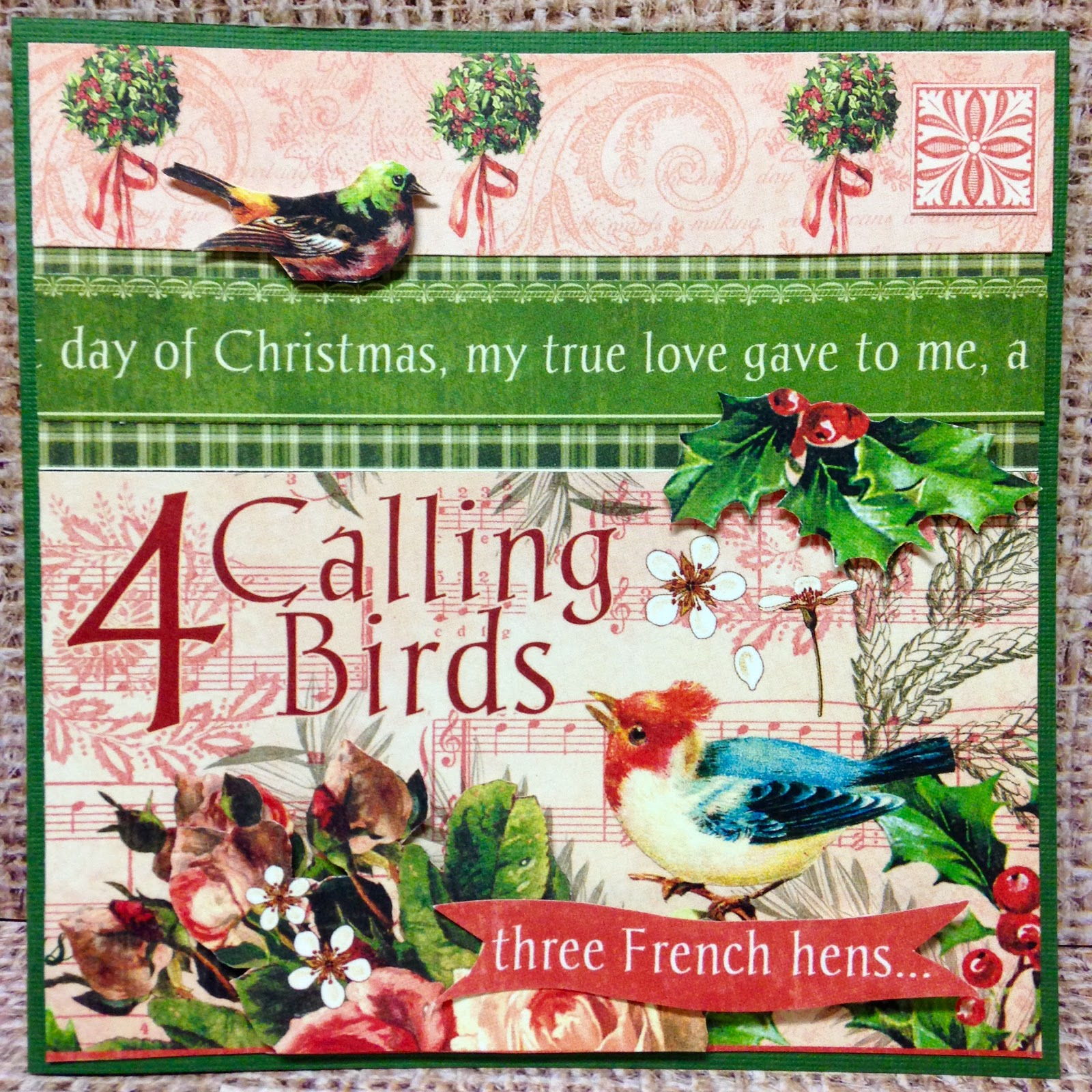 Sewpaperpaint Twelve Days Of Christmas Cards With Graphic 45