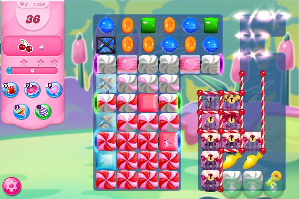 Candy Crush Saga level 7509