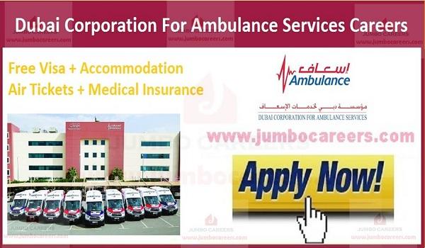 Dubai Corporation for Ambulance Services Careers 2021 | Dubai Government Jobs