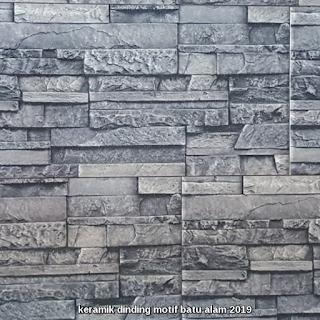 keramik dinding motif batu alam 2019