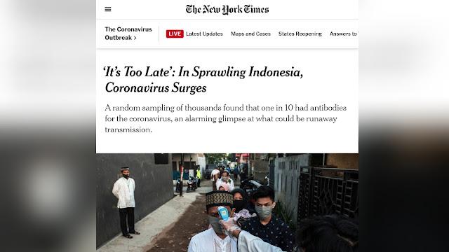 <i>New York Times:</i> Indonesia Terlambat, Virus Corona Sudah Menyebar Luas
