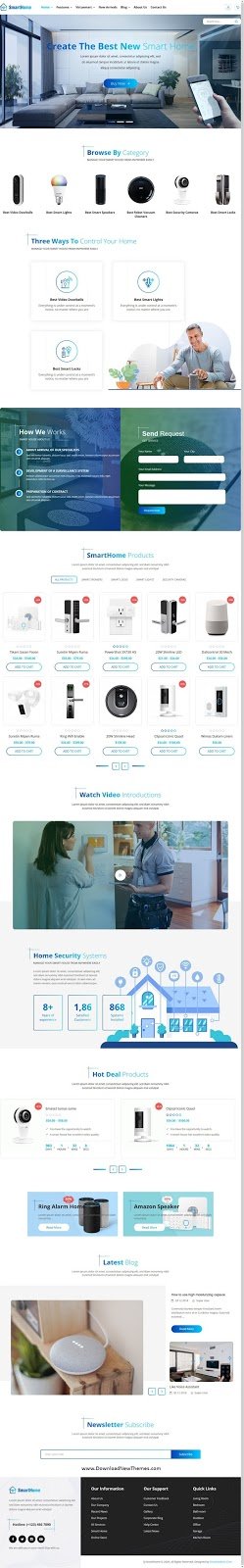 Smart Home Automation & Technologies Joomla Template