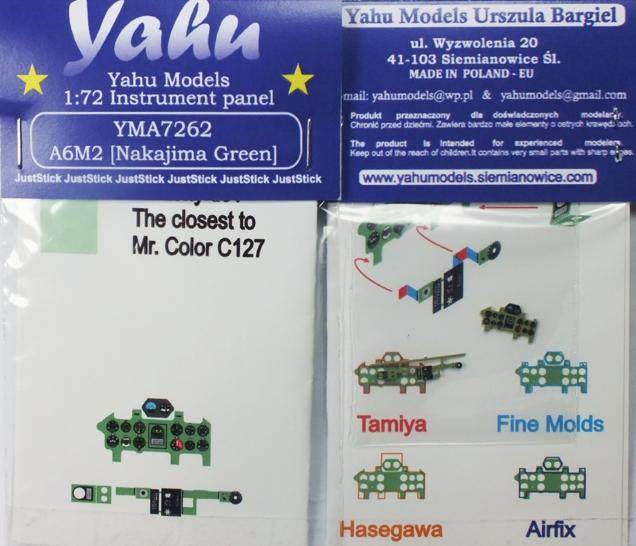 Yahu Models YMA7277 1//72 PE Mitsubishi A5M4 Claude Instrument Panel