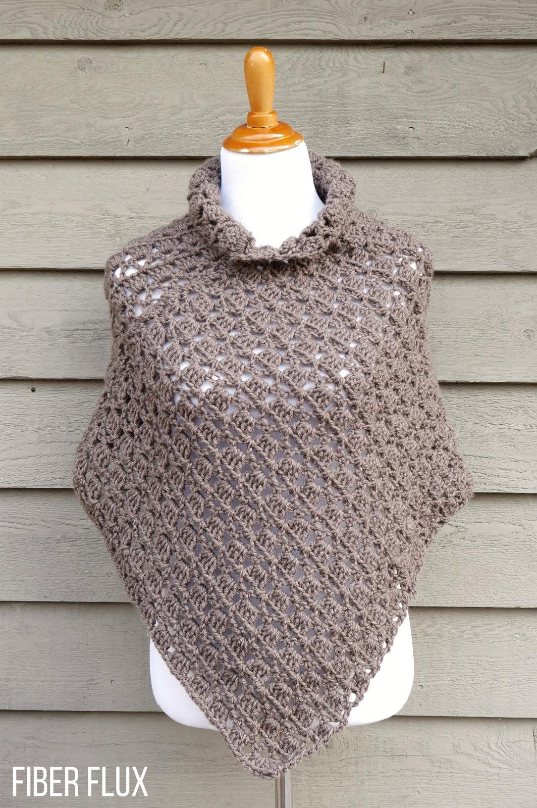 Fiber Flux: Free Crochet Pattern...Woodland Splendor Poncho!