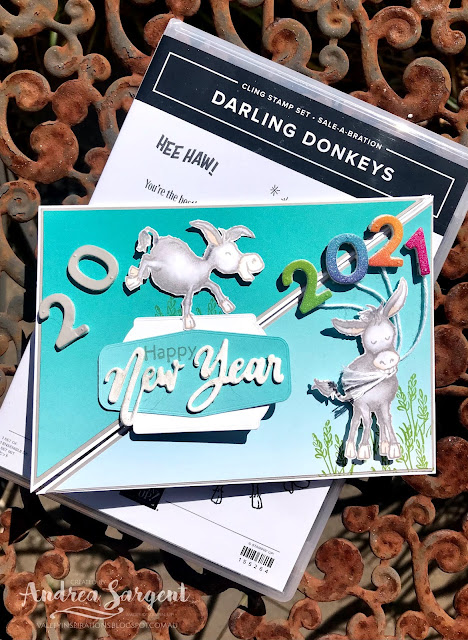 Darling Donkeys and Oh So Ombre Stampin Up card, Andrea Sargent, Independent Stampin' Up! Demonstrator, Valley Inspirations, Adelaide foothills, Australia