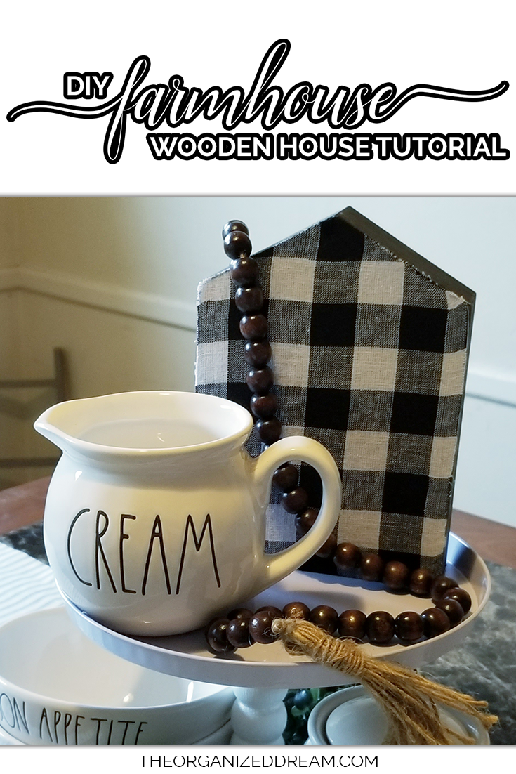 DIY wooden house tutorial for your farmhouse tiered trays and more!  #farmhouse #tutorial #diyprojects
