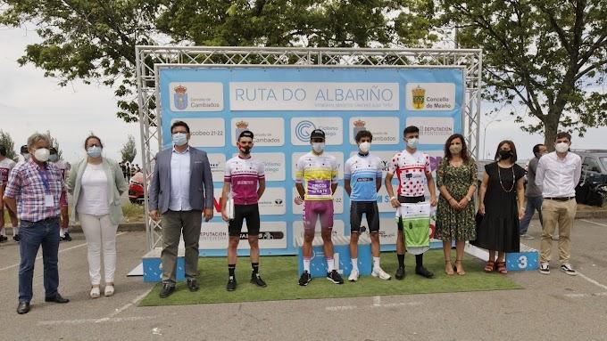 Rubén Fandiño acarició el triunfo de etapa en La Ruta del Albariño donde el portugués Antonio Morgado se llevó la general