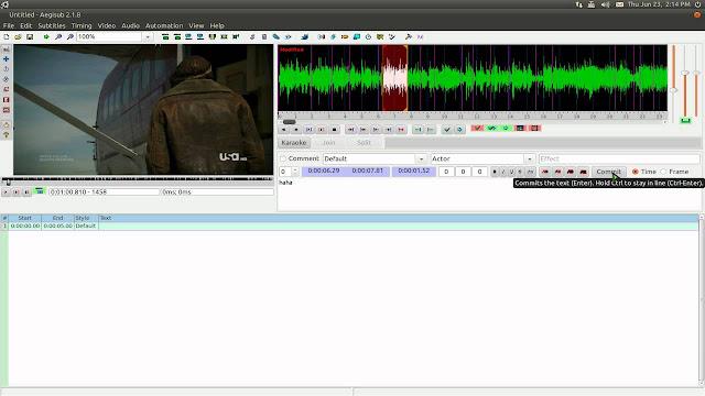 Como Instalar o Aegisub no Ubuntu, Linux Mint e Derivados