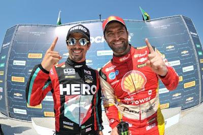 Lucas di Grassi e Átila Abreu, os vencedores de Cascavel (Duda Bairros/Stock Car/Vipcomm)