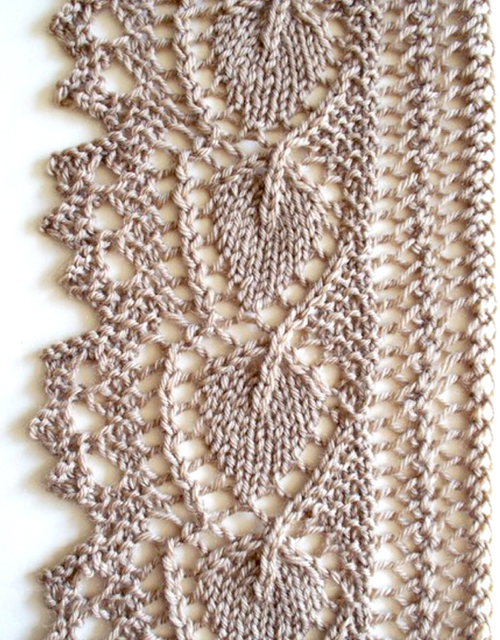 Leaf Lace Edging - Free Pattern