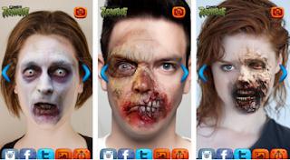 Zombie Wajah Efek