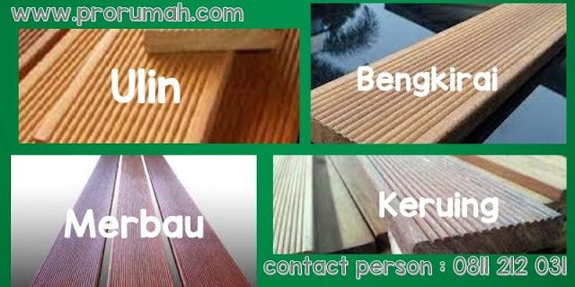 lantai kayu outdoor (decking)