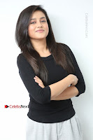 Telugu Actress Mishti Chakraborty Latest Pos in Black Top at Smile Pictures Production No 1 Movie Opening  0062.JPG