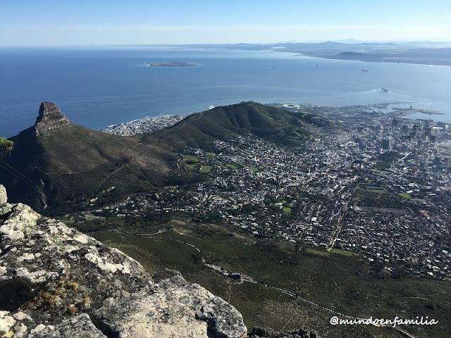 Vistas de Cape Town desde la Table Mountain