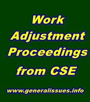 Work adjustment procedings