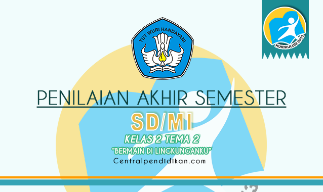 Contoh Soal PAS Kelas 2 SD/MI Tema 2