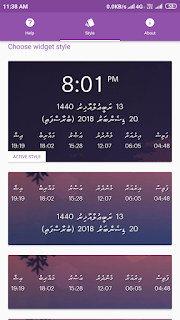 Dhuvas Dhivehi Time Widget Apk for Android