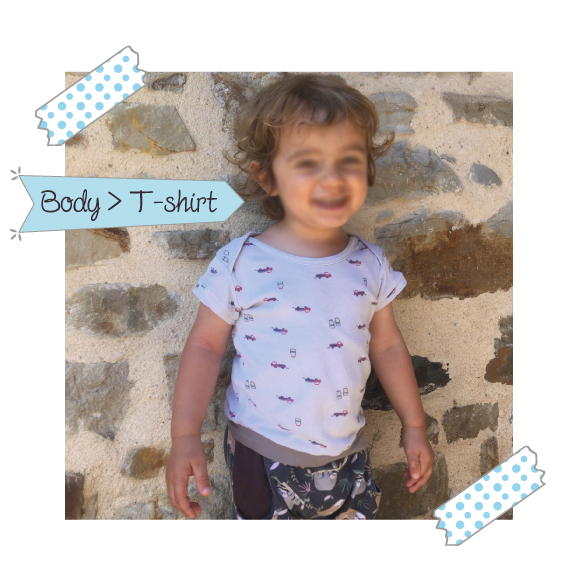 transformer un body bébé en t shirt à la surjeteuse