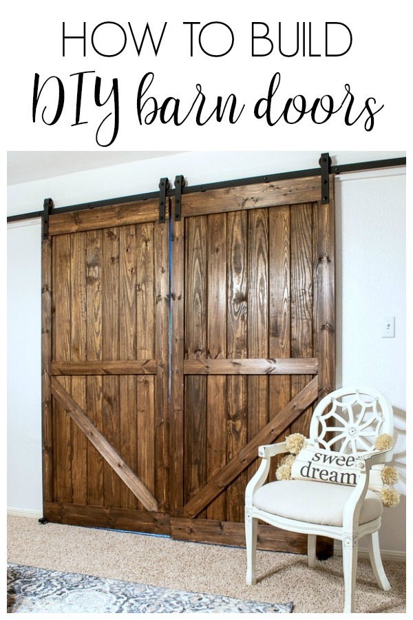 double barn doors add farmhouse style