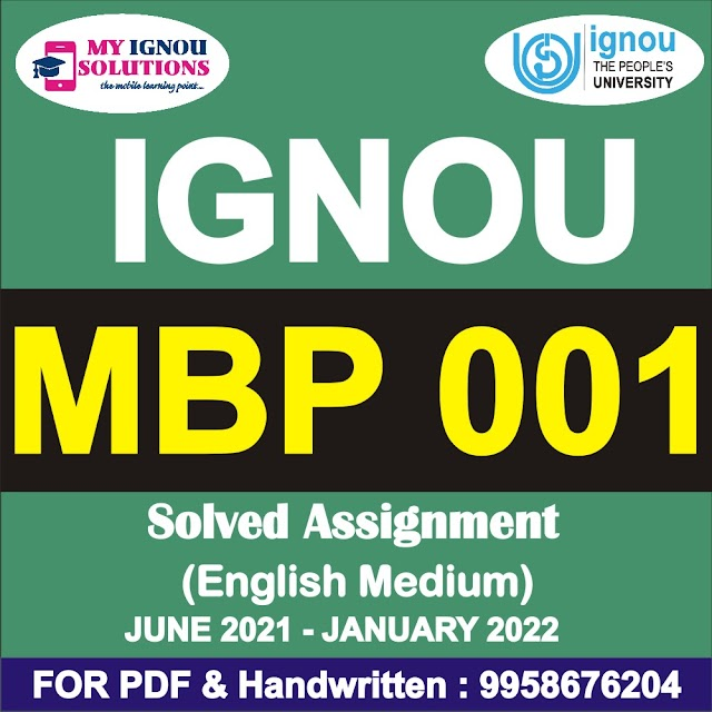 MBP 001 Solved Assignment 2021-22