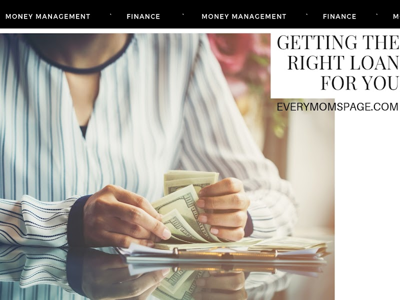 Getting the Right Loan for You