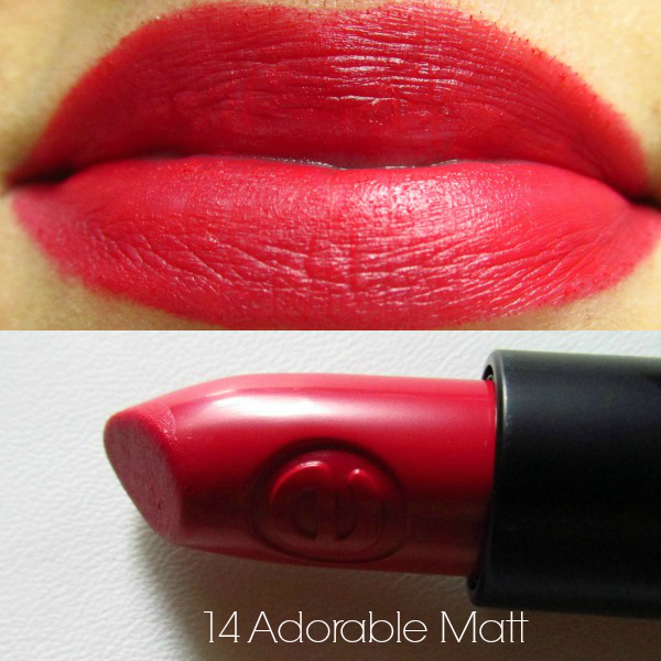 essence longlasting lipstick 14 adorable matt swatch