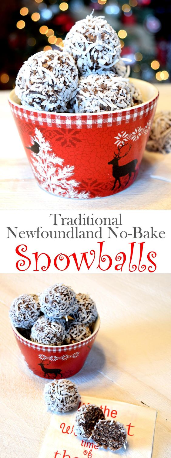 Traditional Newfoundland No-Bake Snowballs Recipe
