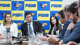 Mara Rocha participa de reunião do PSDB com Sérgio Moro para discutir pacote anticrime