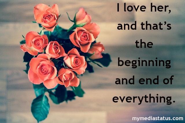 Best English Status Love Quotes
