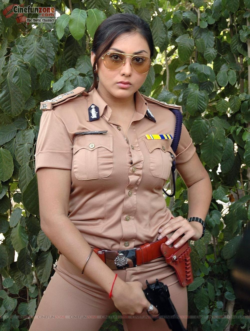 sexy images Namitha looks bold and beautiful in uniform