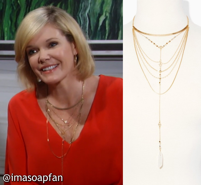 Ava Jerome, Maura West, General Hospital, GH, Layered Collar Necklace