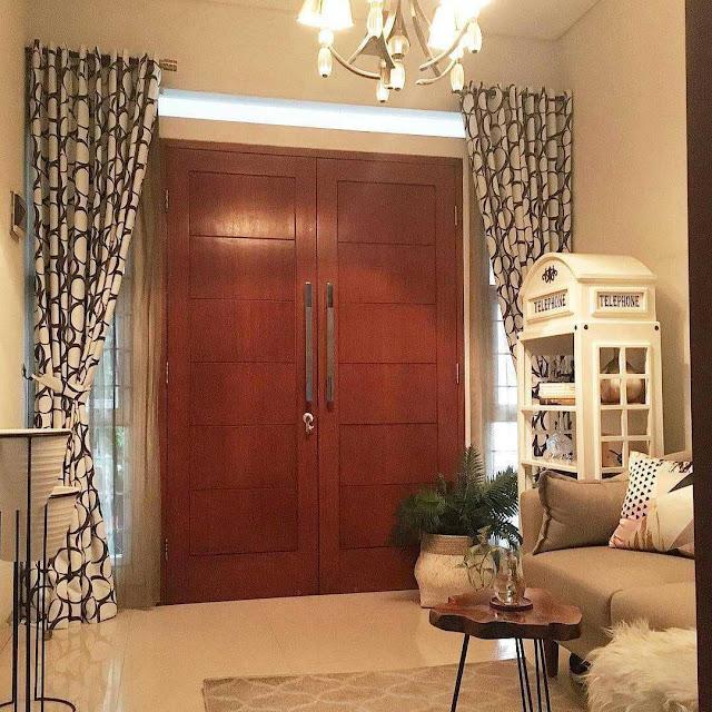 Desain Pintu Rumah Minimalis 2 Pintu Elegan Dari Kayu