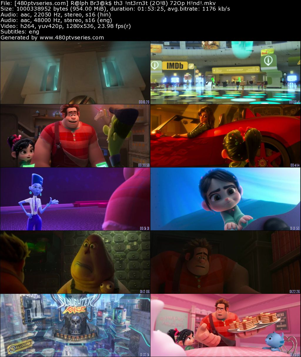Download Ralph Breaks the Internet (2018) 950MB Full Hindi Dual Audio Movie Download 720p Web-DL Free Watch Online Full Movie Download Worldfree4u 9xmovies