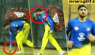 Harbhajan Singh MASS Entry with Vanakkam | CSK Practice session | IPL 2018