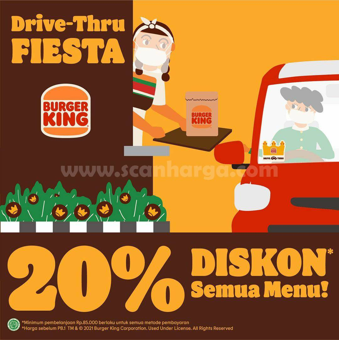 Promo Burger King s.d 30 September 2021 - Diskon 20% Semua Menu