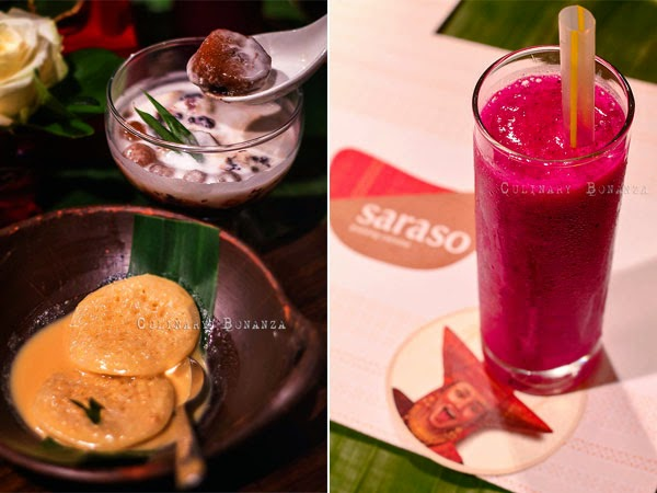 Left: Serabi Padang and Bubur Kampiun | Right: Stamina Booster Healthy Juice (Culinary Bonanza)