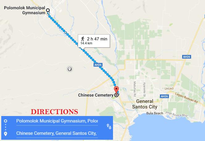 Nov 2: Day Six, Walk from Polomolok to General Santos City   2000 km ...