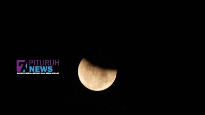 Ini Wujud Fase Puncak Gerhana Bulan Total Super Blood Moon!