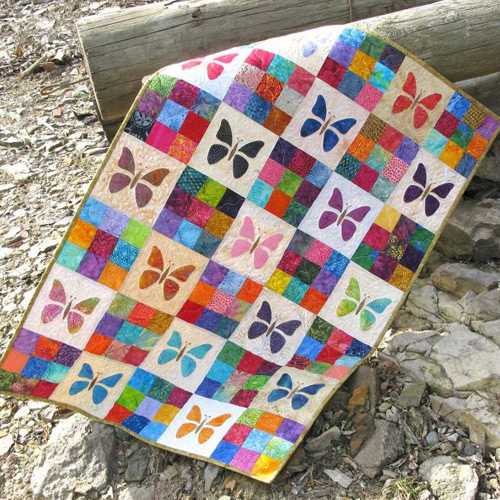 Scrappy Butterfly Baby Quilt - Tutorial