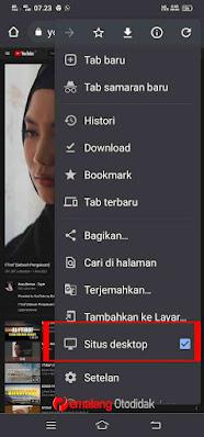 Aktifkan mode desktop