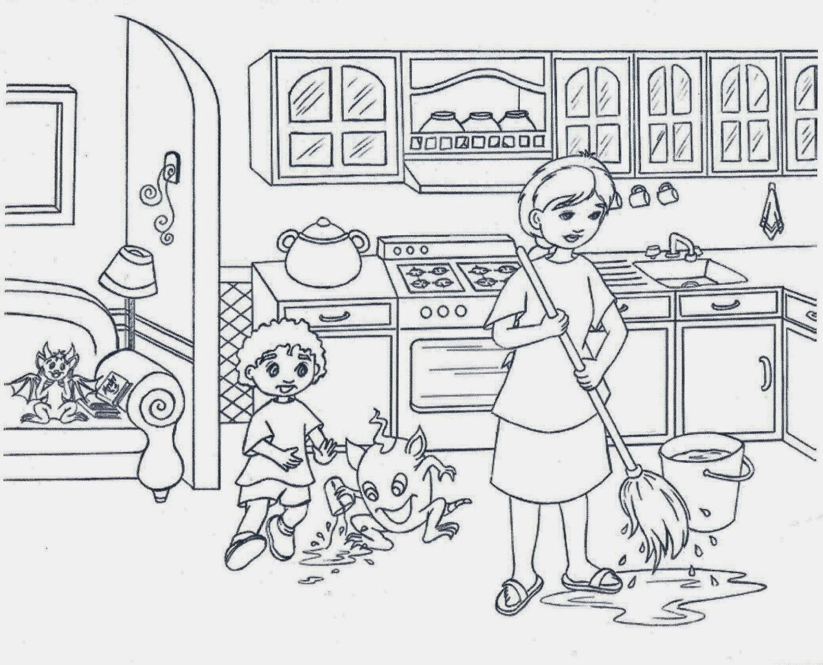 Desenhos Para Colorir ABC: Desenhos Para Colorir Cozinha