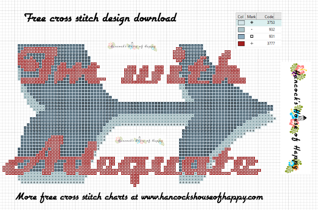 I'm with Adequate Free Anti-Valentine Cross Stitch Pattern Free to Download
