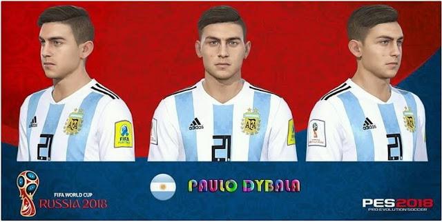 Paulo Dybala New Face PES 2018