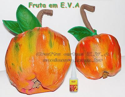 Fruta maça em E.V.A
