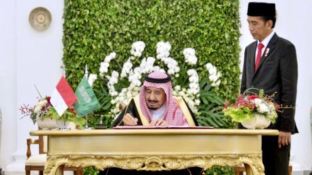 Raja Salman Teken 11 Nota Kesepahaman Dengan Jokowi, Ini Isinya