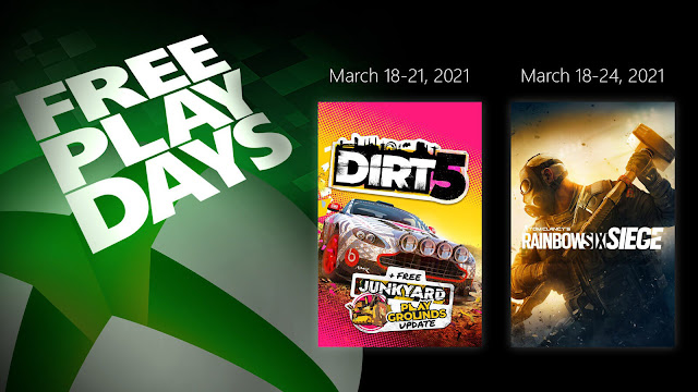 dirt 5 tom clancy rainbow six siege xbox live gold free play days event
