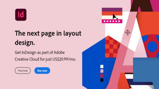 برنامج التصميم Adobe InDesign